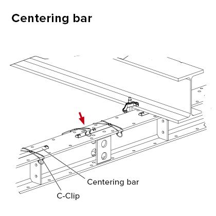 Centering bar